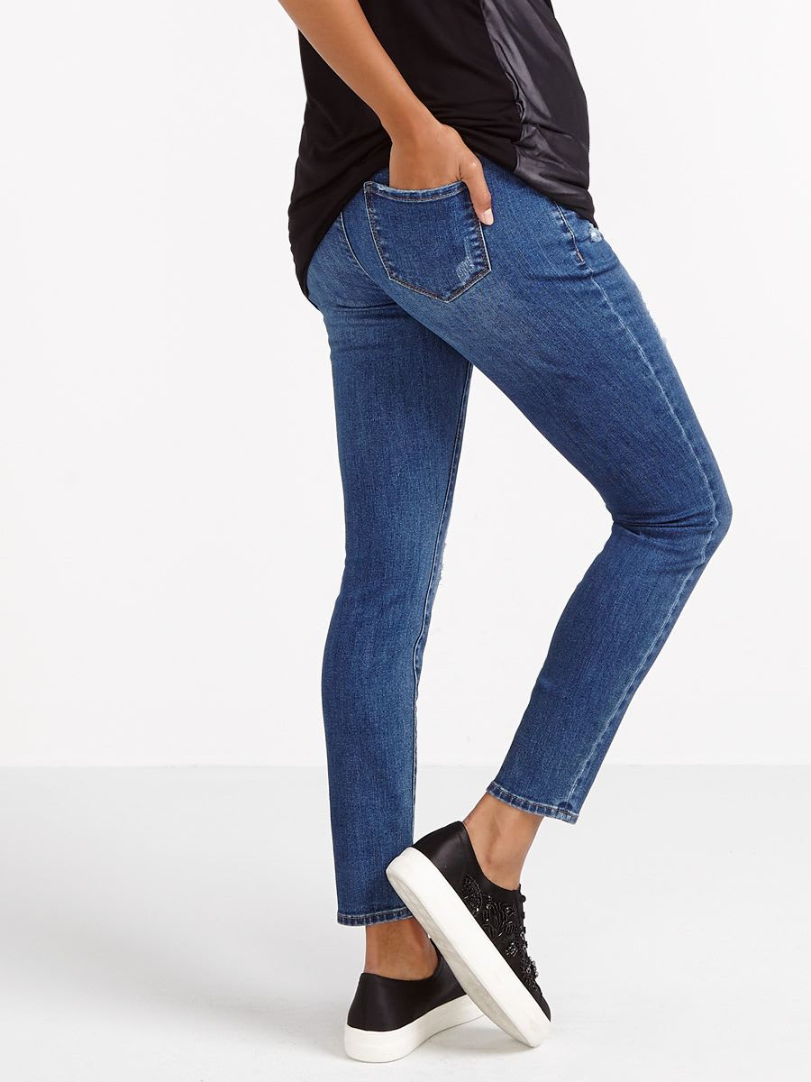 Distressed Skinny Maternity Jean