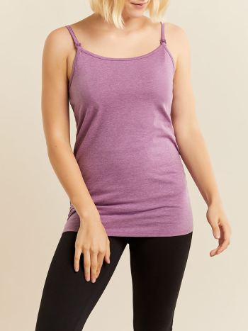 Solid Sleeveless Nursing Cami