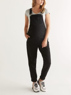 Black Maternity Jean Overall