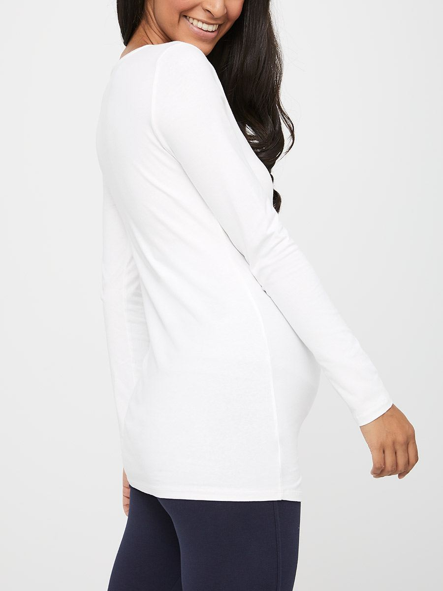 Long Sleeve Cotton Maternity T-Shirt