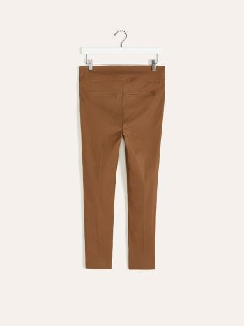 Cropped Brown Maternity Pant