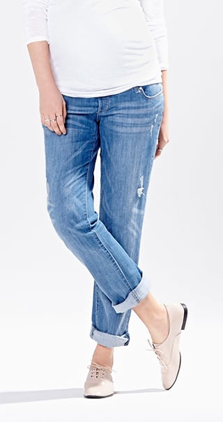 8314f98fe64 do. Wear a 3-way panel with maternity jeans  ...