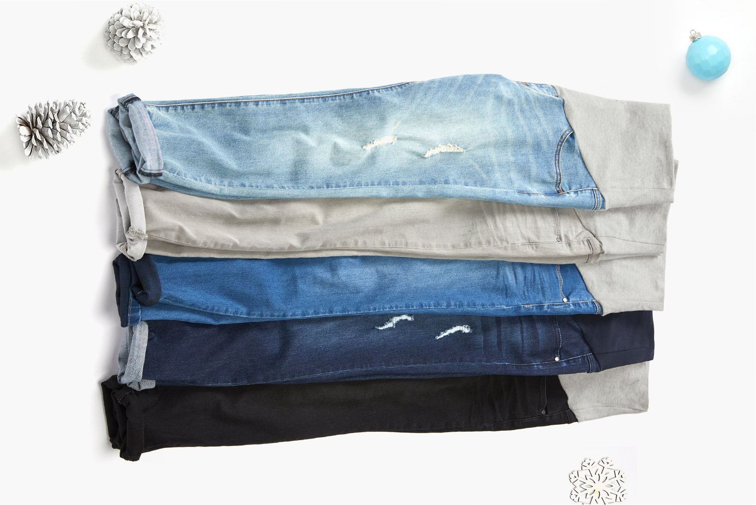 Coveted jeans. With modern washes and built-in belly panels for bump support and coverage