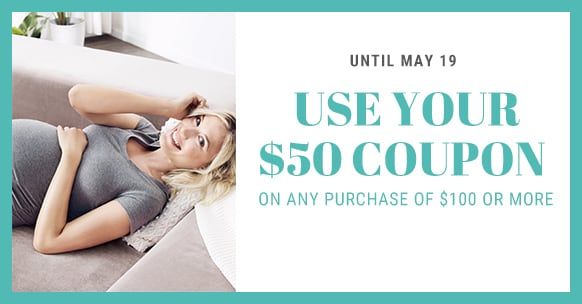 Use your $50 coupon until May 19
