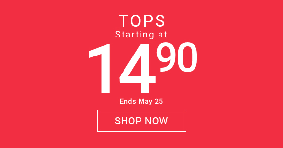 Tops starting at $14.90