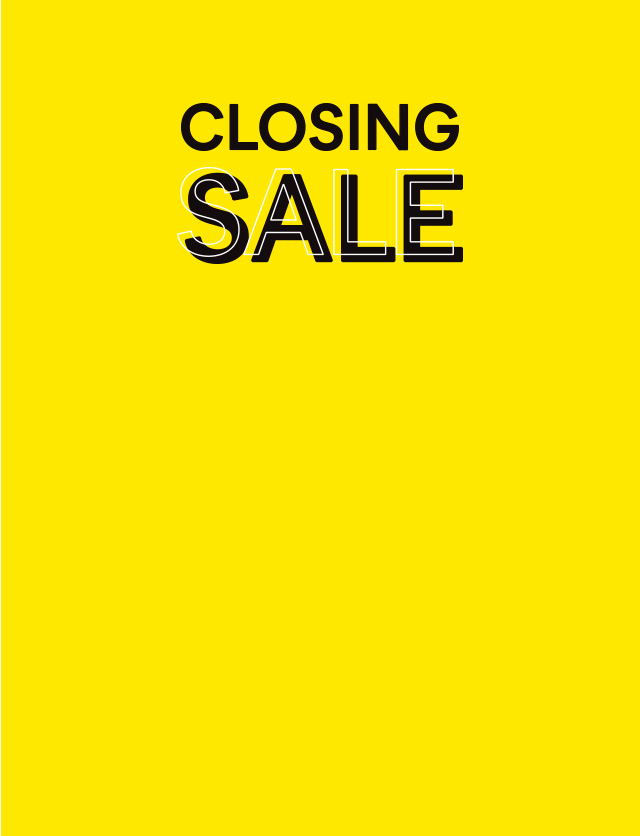 Closing sale 70% off everything