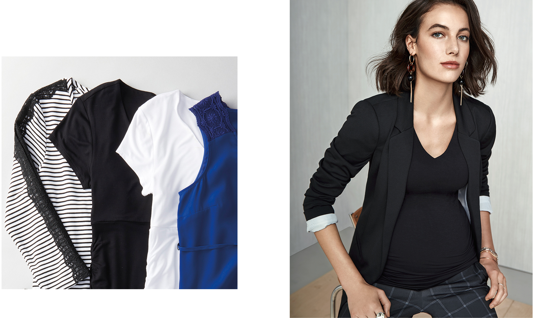 On Top. Flattering tops coupled with blazers that mean business