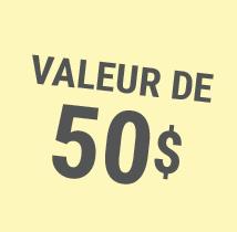 Valeur de 50$