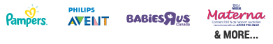 pampers, philips avent, babiesrus, materna and more