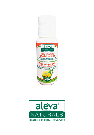 Sample of daily soothing moisturizer aleva