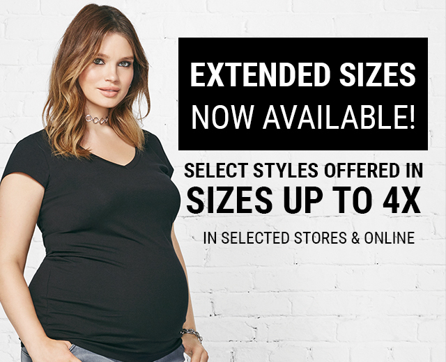 Extended Sizes: Now Available! Select styles offered in sizes up to 4X
