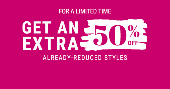 get an extra 50% off sale items