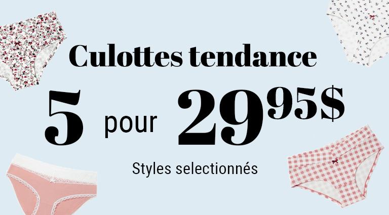 Lingerie - Culottes promo
