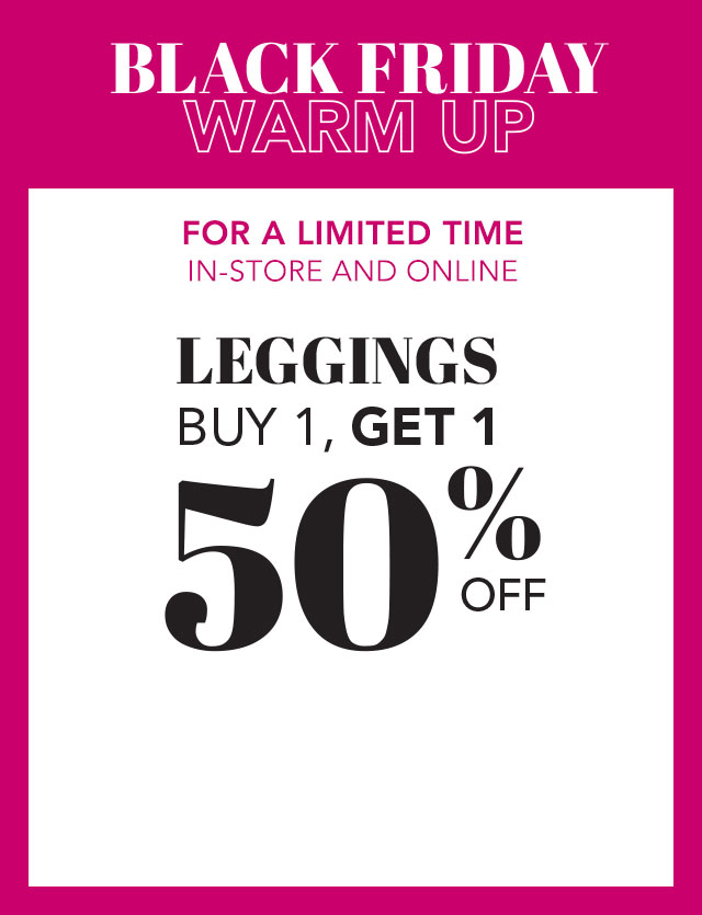 Leggings: Buy 1, get 1 at 50% off