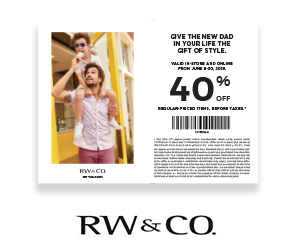 40% off coupon on menswear collection
