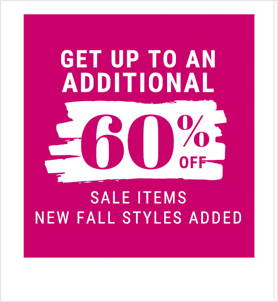 Get an extra 60% off sale items