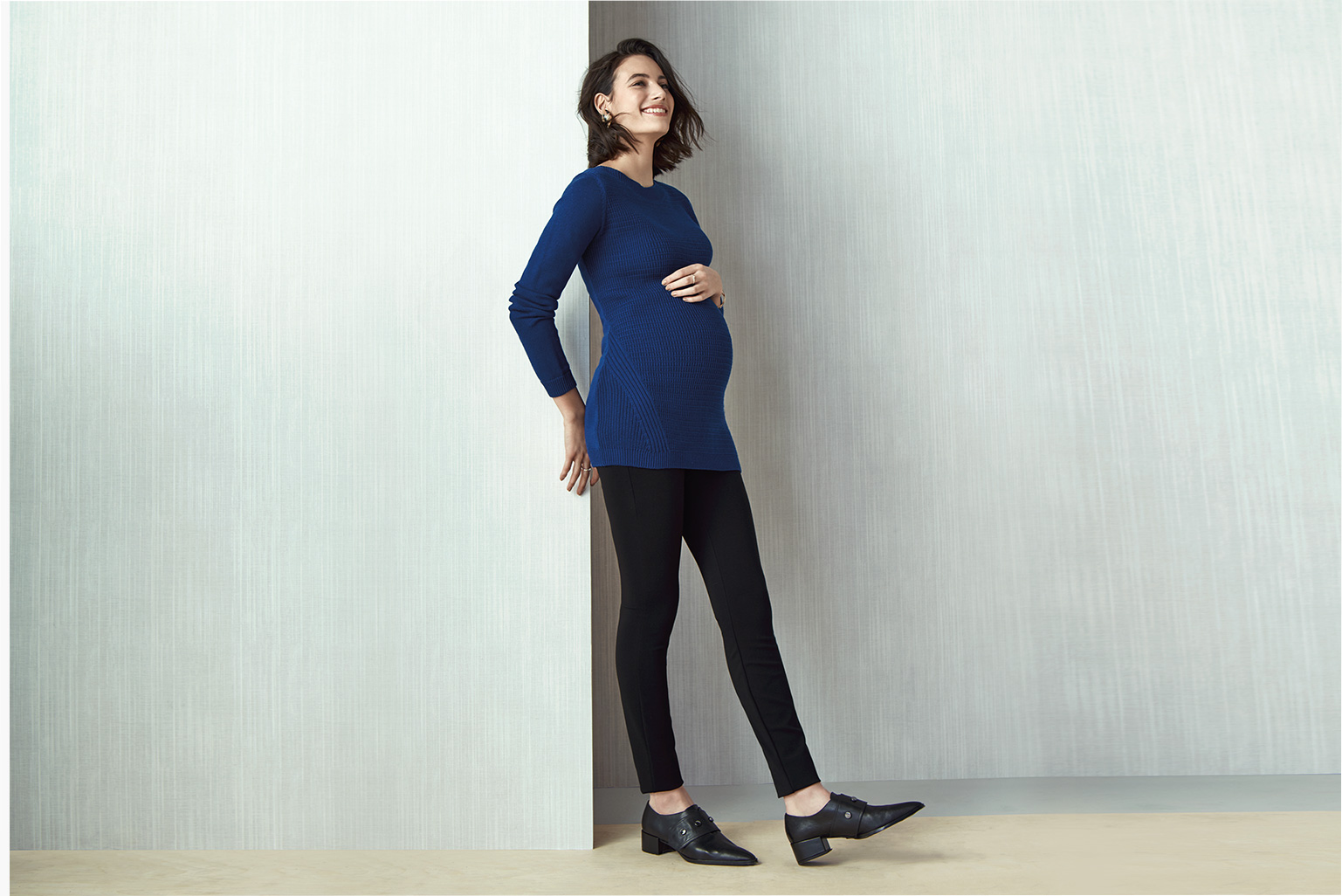 Smarty Pants. Tapered leg with a built-in belly panel for a fit that has you covered from bump to baby