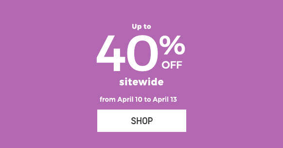 Up to 40% off sitewide