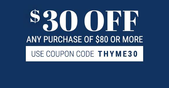 $30 off any purchase of $80 or more