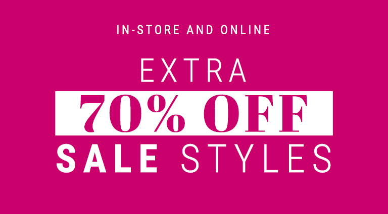 Extra 70% off sale styles
