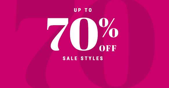 up to 70% off sale style