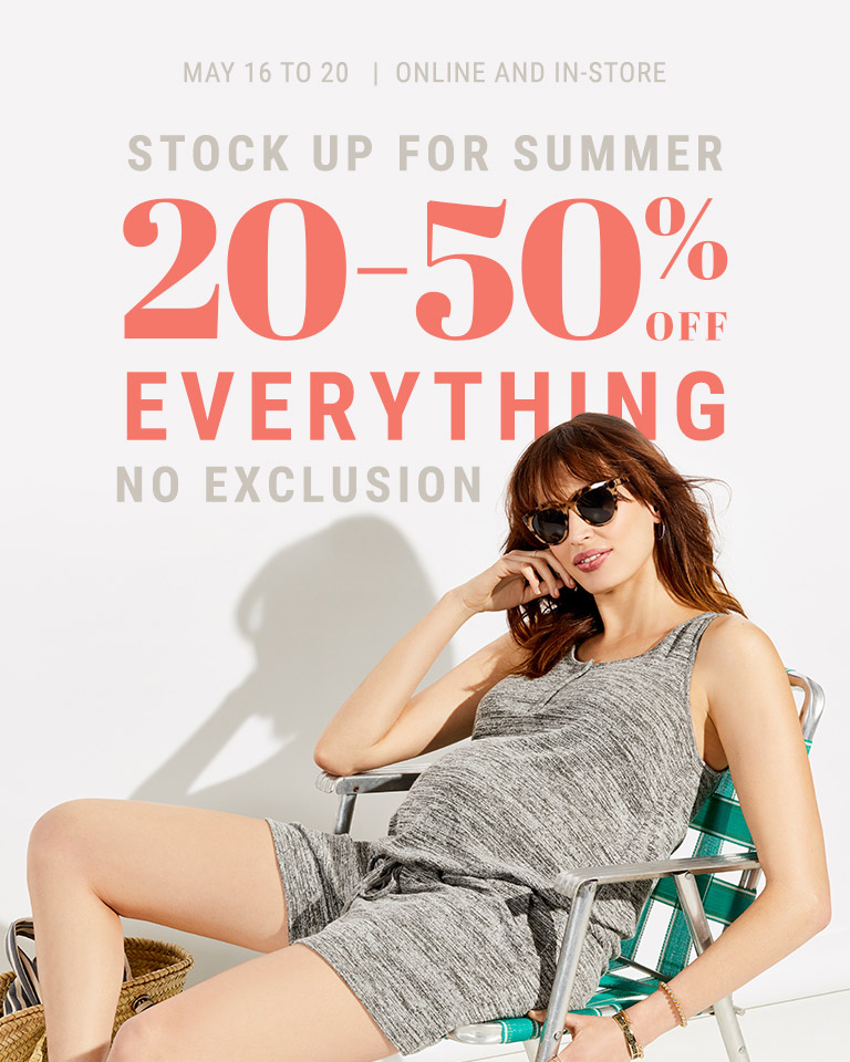 20-50% off everything No exclusions
