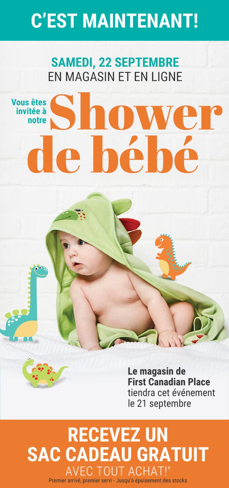 Shower de bébé samedi,22 septembre