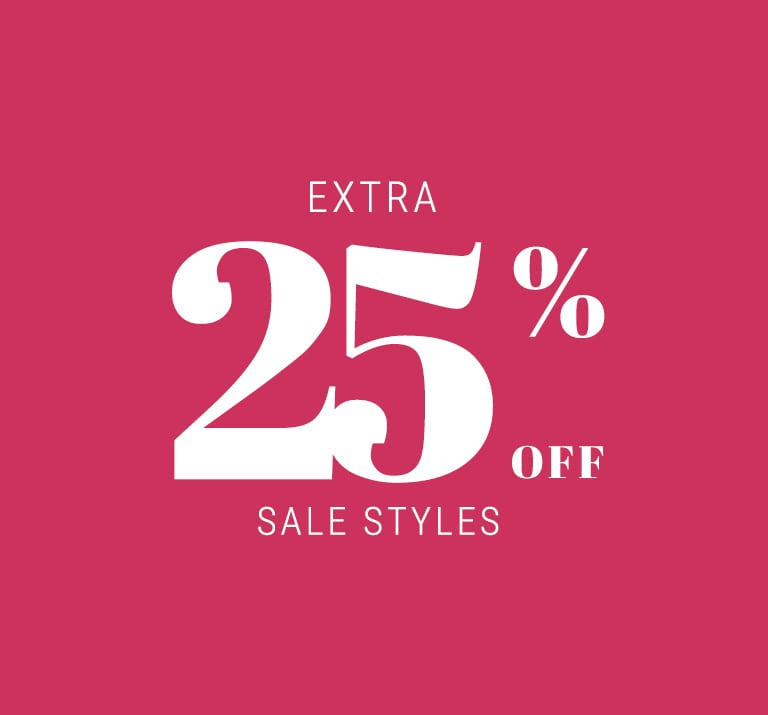 Extra 25% off sale styles