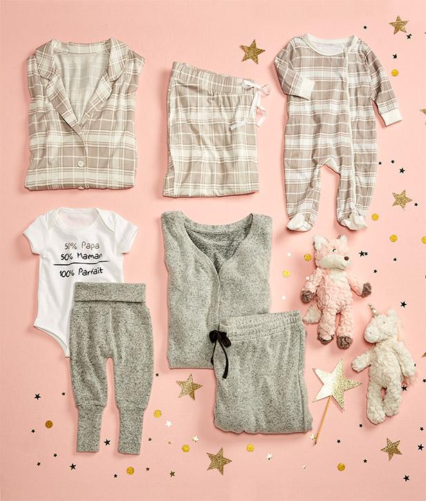 pyjamas assortis pour maman et bébé