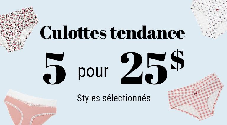 Lingerie - promo culottes