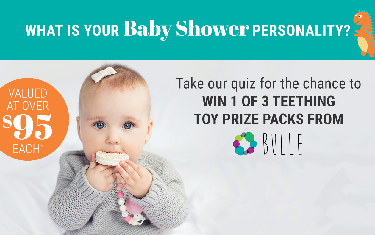 Take our quiz for the chance to win 1 of 3 teething toy prize packs from bulle