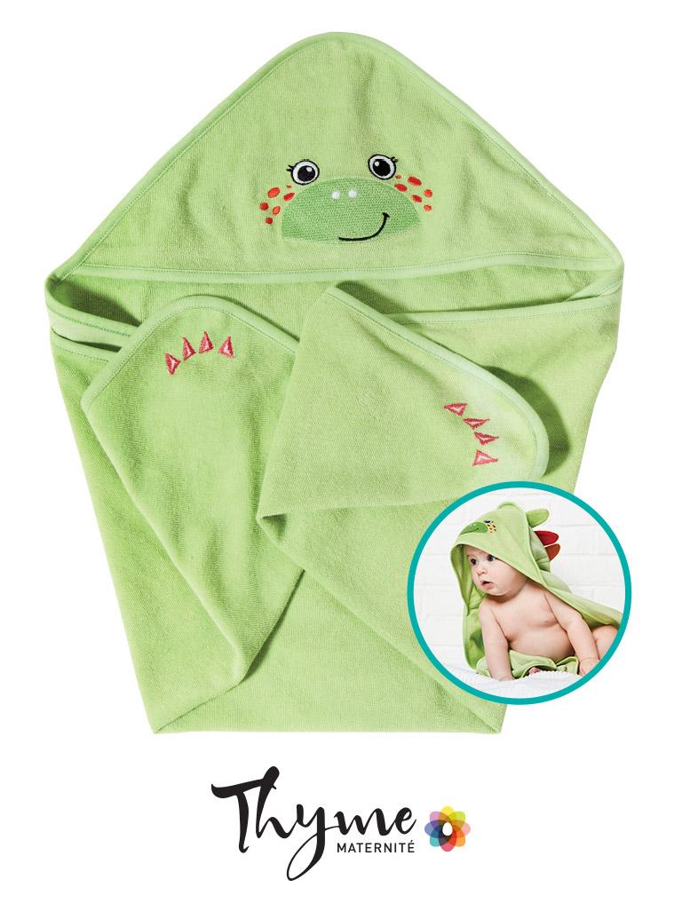 Serviette dinosaure thyme maternité