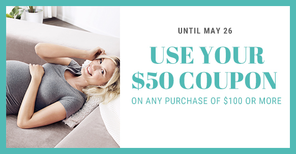 Use your $50 coupon until May 26