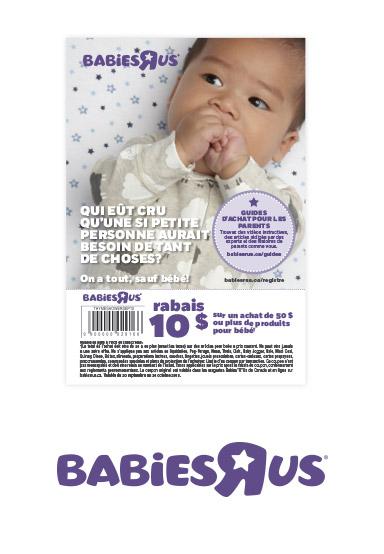 """Coupon-rabais de 10 $ (Babies""""R""""Us)"""