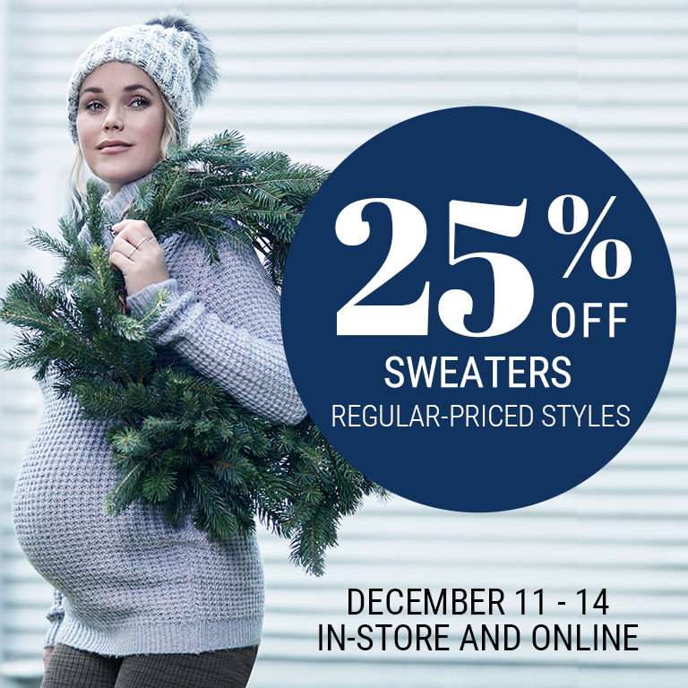 25% off sweaters