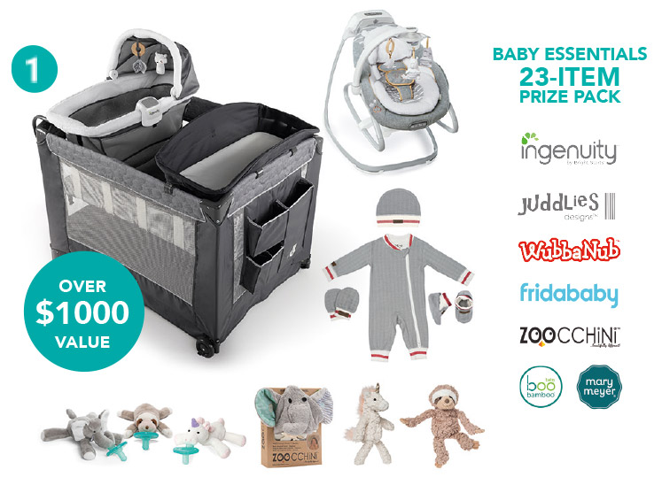 Baby Essentials 23-item prize pack